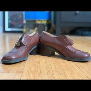 Enzo Angiolini Brown Leather Oxfords size 7